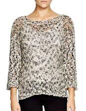 $218 Eileen Fisher Bateau Neck Box Top Sweater Cotton Slub NWT SZ PL