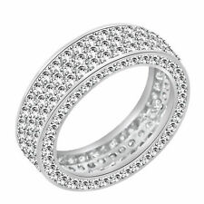 Simulated Diamond Eternity Anniversary Band Ring 14k Gold Over Sterling Silver