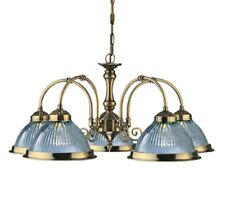 SEARCHLIGHT AMERICAN DINER 5 LIGHT CEILING LIGHT FITTING IN ANTIQUE BRASS 9345-5
