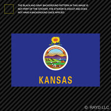 "4"" Kansas Flag Sticker Decal Self Adhesive Vinyl state the sunflower wheat"