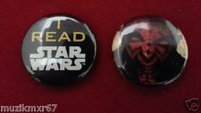 SDCC San Diego Comic Con 2011 I Read Star Wars Darth Maul Button pin-back