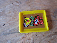 Fisher Price Little People food tray ketchup mustard tomato eat dinner supper