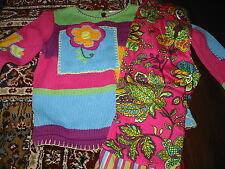 EUC Hanna Andersson French Flowers Sweater Capri Set - 110