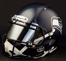 ***CUSTOM*** SEATTLE SEAHAWKS Full Size NFL Riddell SPEED Football Helmet