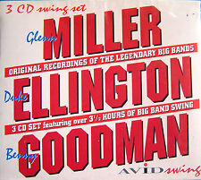 GLENN MILLER,DUKE ELLINGTON + BENNY GOODMAN ~ NEW 3CD BOX SET * BIG BAND * SWING