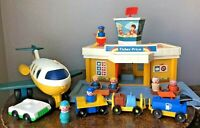 Vintage 1980 Fisher Price Little People Play Family Jetport Airport Complete