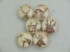 Set of 6 Vintage Style Stag Deer Cabinet Knobs Drawer Knobs Cabin Decor