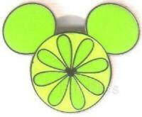 FRUIT SERIES EAR ICON LIME HIDDEN MICKEY Disney CAST LANYARD PIN 57930