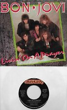 BON JOVI  Livin' On A Prayer / Wild In The Streets 45 with Picture Sleeve
