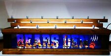 18 BEER Tap handle display  lighted BEARS DEN / CHICAGO SKYLINE bar sign