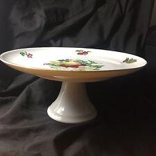 """Naaman Ltd Porcelain 11"""" Compote Fruit Pedestal Israel"""