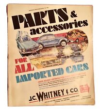 1972 J.C. WHITNEY Parts & Accessories For All Imported Cars Catalog # 19