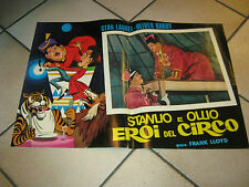 fotobusta,STANLIO E OLLIO EROI DEL CIRCO STAN LAUREL OLIVER HARD,CIRCUS