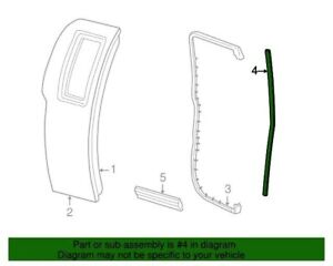 NEW OEM Ford Rear Door Front Weatherstrip RH F65Z15253A36AA F150 Super Cab 97-03