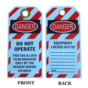 """""""Danger Do Not Operate"""" 6""""x3"""" Lockout Tag with Brass Grommet"""