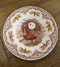 NEW (4) The Victorian English Pottery Thanksgiving Turkey Fall Salad Side Plates