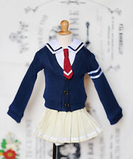 1/3 bjd SD10 girl doll clothes school uniform navy cardigan dress super dollfie