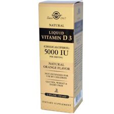 Solgar Liquid Vitamin D3, 5000 IU Per Serving, Orange Flavor, 2 fl oz (59 ml)