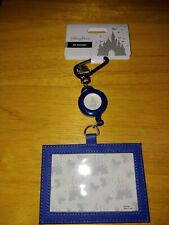 Disney Parks ID Pass Holder Vinyl Necklace Lanyard WDW NEW