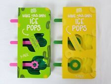 Lot of 2 Cool Gear Make Your Own Ice Pops Pineapple & Cactus Popsicle Molds