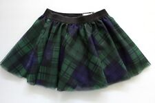 Tommy Hilfiger Girls Tulle Skirt Lined Green Plaid Size 4T NWT