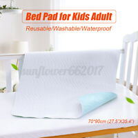 70*90cm Washable Reusable Waterproof Underpad Incontinence Bed Pad Kids Adults