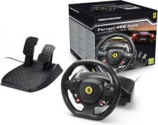 Xbox 360 Steering Wheel Racing Gaming Simulator Ferrari 458 Pedal Set Driving PC