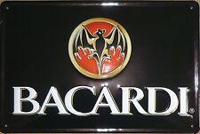 Bacardi Logo Blechschild 20x30cm Kuba Werbeschild Fledermaus Rum Metal sign Bat
