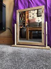 solid oak dressing table mirror