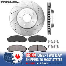 Front Drill And Slot Brake Rotors & Ceramic Brake Pads For Equinox Torrent Vue