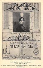 A9205) MVSN, CARTOLINA DEL CALENDARIO 1930 DELLA MILIZIA IN GRIGIO NERO.