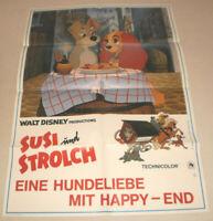 A1 Filmplakat ,SUSI UND STROLCH, WALT DISNEY, ZEICHENTRICK