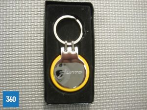 NEW GENUINE FIAT PUNTO CHROME ORANGE KEY RING GIFT FOB