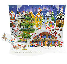Jolly Mini Santas Christmas Village Pop Up Card
