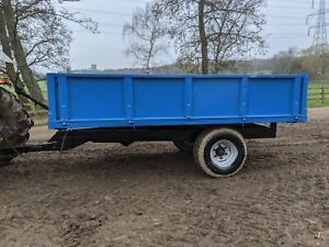 6 - 8 TON FARM TIPPING TRAILER FOR EQUESTRIAN USE SMALL HOLDING FOR TRACTOR
