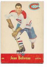 1955-56 - PARKHURST HOCKEY CARD - NO 44 - JEAN BELIVEAU - HOF -  MTL. CANADIEN