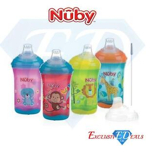 Nuby No Spill 300ml Sippy Cup & Spout 6M+ Anti-Colic No Spill Beaker - BPA FREE