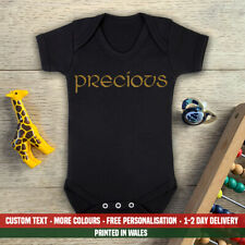 Precious Baby Vest Glitter Gold My Lord Of The Rings First LoTr Hobbit 1st Gift