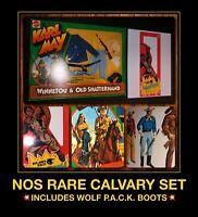 NOS VTG 70s Mattel Big Jim KARL MAY CALVARY Gabriel Lone Ranger Warpath doll SET
