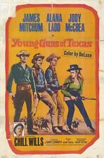 YOUNG GUNS OF TEXAS Movie POSTER 27x40 James Mitchum Alana Ladd Jody McCrea