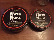 2 - THREE NUNS TOBACCO TIN CANS ROUND BELL'S MADE IN SCOTLAND