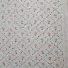 "Vintage Laura Ashley Fabric 2 5/9 Yards x 48"" Wide KATE Pink Floral Cotton Print"