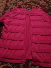 ELLEN TRACY Petitie Women's Cardigan Silk/CASHMERE Large 3/4 SLV Sweater +Blouse