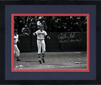 "Frmd Carlton Fisk Red Sox Signed 16"" x 20"" Photo & ""Stay Fair! Stay Fair!"" Insc"