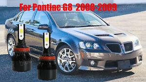 LED For Pontiac G8 2008-2009 Headlight Kit H11 6000K White CREE Bulbs Low Beam
