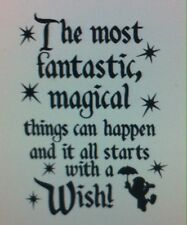 (Disney) Starts With a Wish vinyl decal