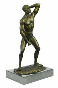 Bronze Sculpture Numbered Original Mavich Nude Lying Male Hot Cast Figurine Deal