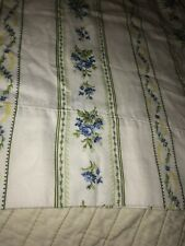 Blue Floral Pair Standard Pillowcases All Cotton Flowers Vines Soft Bedding