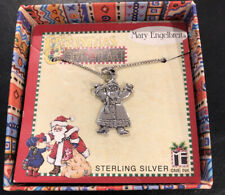 New listing Save The Children Sterling Silver 925 Santa Necklace Mary Engelbreit