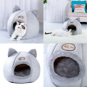 Bed House Cat Pet Tent Dog Kennel Warm Puppy Nest Mat Soft Cave Portable Sleep